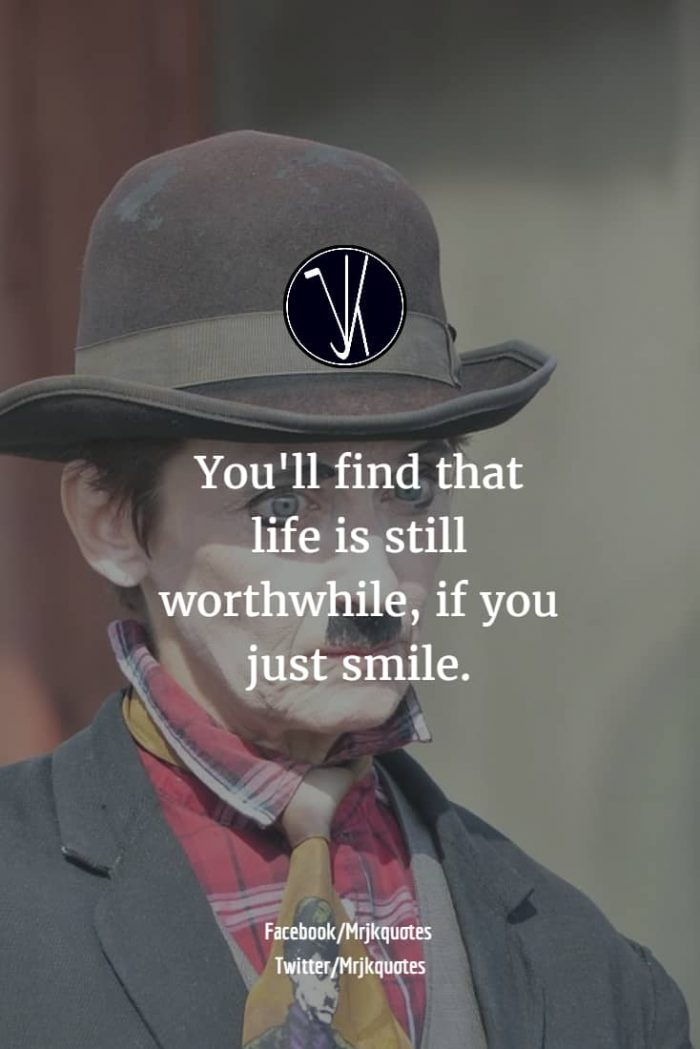 Charlie Chaplin Quotes - Smile