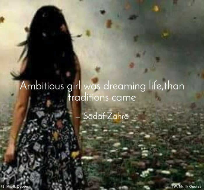 Confident Ambitious Girl Quotes