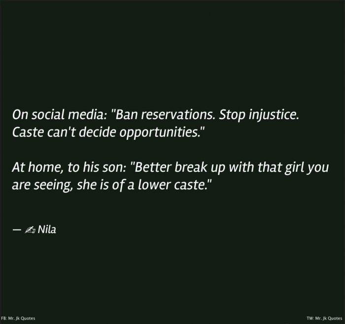 Quotes Against Caste Reservation