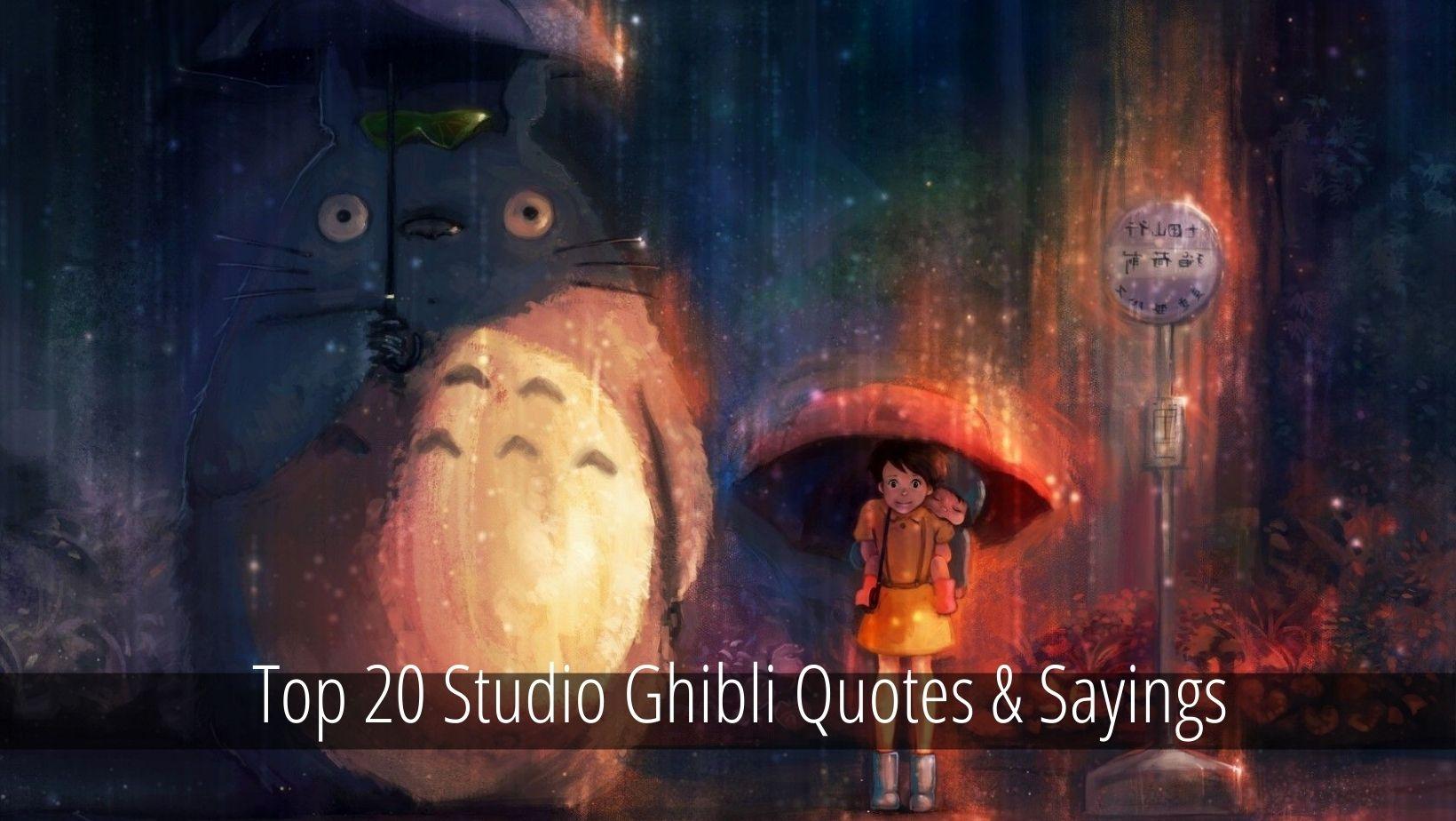 Stuido Ghibli Quotes
